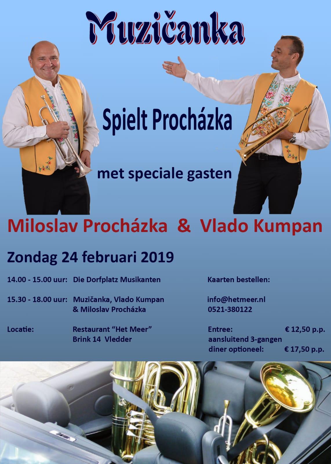 Muzičanka und Vlado Kumpan spielen Procházka